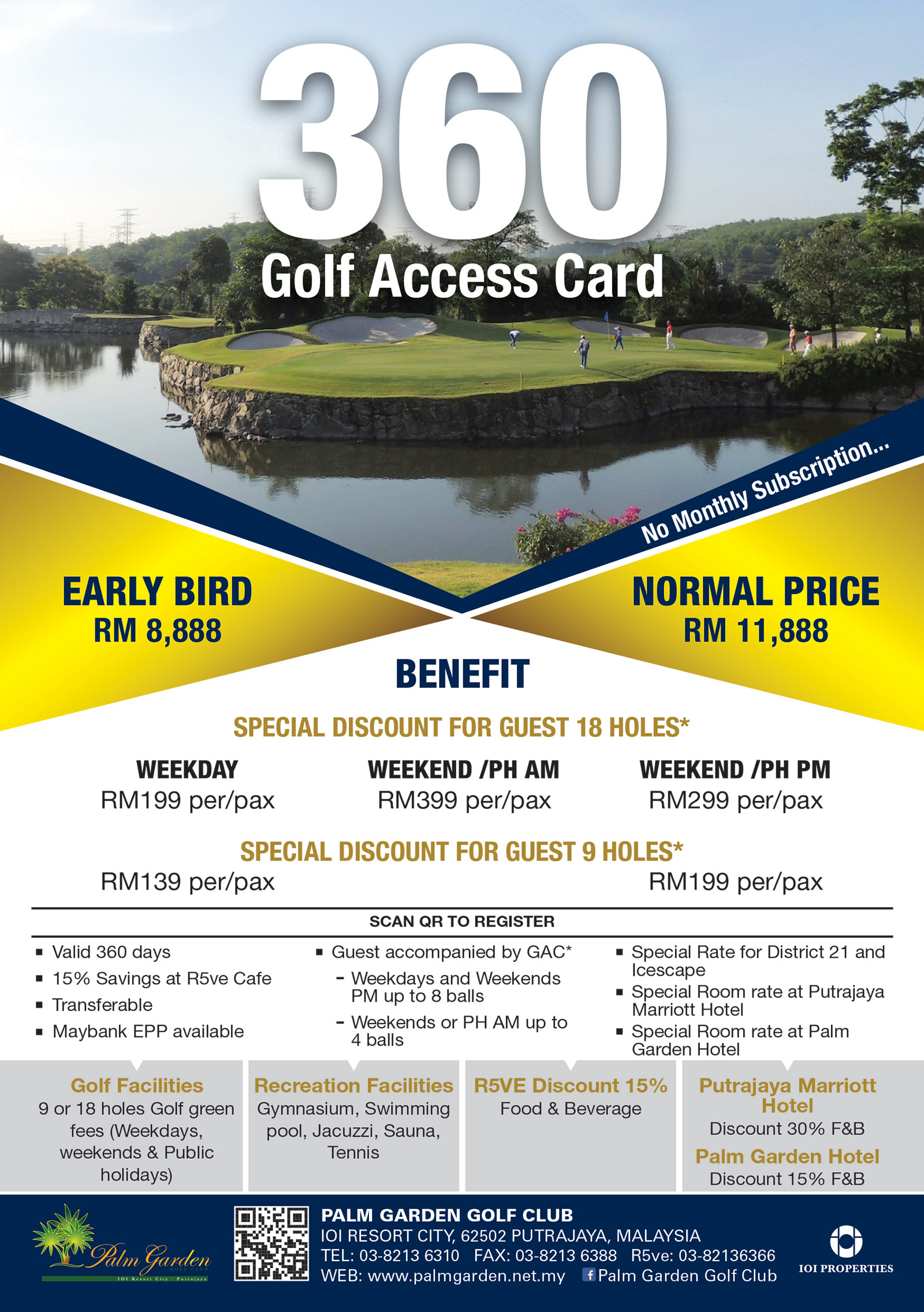 360 Golf Access Card